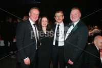 Press Eye - Belfast - Northern Ireland - 6th February 2017 -  . Belfast Telegraph Sports Awards 2016.. Michael O\'Neill, Gail Walker, Les Kiss and Jim Gracey.. Photo by Kelvin Boyes / Press Eye..