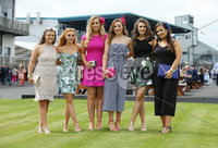 Press Eye - Belfast - Northern Ireland - 7th May 2018  - . May Day Meeting at Down Royal Racecourse.. Catriona Graham, Kirsty Lavery, Mary Shannon, Roisin Rafferty, Caoimhe Conlon and Laoise McKenna pictured at the County Down racecourse.. Photo by Kelvin Boyes / Press Eye .