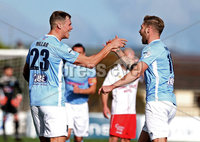 Danske Bank Premiership, Ballymena Showgrounds, Co. Antrim 6/10/2018. Ballymena vs Newry City. Ballymena\'s Leroy Millar celebrates scoring a goal. Mandatory Credit INPHO/Matt Mackey