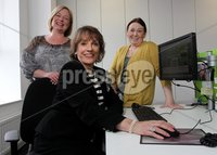 Presseye Northern Ireland - 01st May 2012 Mandatory Credit - Photo-William Cherry/Presseye. ChildLine founder Esther Rantzen with Mairead Monds ChildLine services manager and Elaine Charmers ChildLine area manager during a visit to the Belfast base.