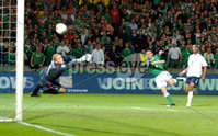 Northern Ireland \'s David Healy scores