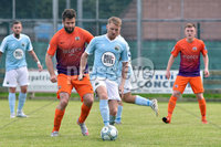 © Presseye.com- August 12th 2017, Danske Bank Premiership.. Warrenpoint Town v Glenavon %:30 Kick off.. Warrenpoint\'s Marty Murray. and Glenavon\'s Simon Kelly. during Saturday\'s match at Milltown. Photo by TONY HENDRON/Presseye.com. .