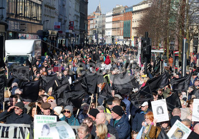 Victims rally in Belfast City Cent...