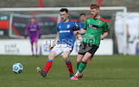 Danske Bank Premiership, The Oval, Belfast, Northern Ireland. 1/5/2021. Glentoran vs Linfield FC . Glentoran  Dale Gorman  and Linfield Stephen Fallon  . Mandatory Credit INPHO/Presseye/Brian Little