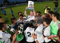 PressEye-Northern Ireland- 2nd August 2019-Picture by Brian Little/PressEye. Valencia  team celebrate  after defeating Newcastle United 2-1       in the STATSports SuperCupNI Premier  Final , at Ballymena  Showgrounds .. Picture by Brian Little/PressEye