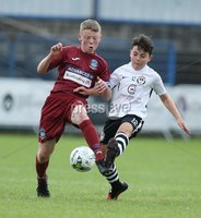 PressEye-Northern Ireland- 27th   July  2018-Picture by Brian Little/PressEye. SuperCupNI. Minor  Section . Greenisland  Jack Patterson    against Bertie Peacock Youths   Callum Wynne     during the SuperCupNI Minor Final  at Coleraine Showgrounds. . Picture by Brian Little/PressEye
