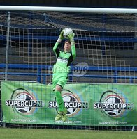 PressEye-Northern Ireland- 27th   July  2018-Picture by Brian Little/PressEye. SuperCupNI. Minor  Section . Greenisland  goal keeperMason Hume making a save     against Bertie Peacock Youths       during the SuperCupNI Minor Final  at Coleraine Showgrounds. . Picture by Brian Little/PressEye