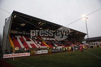 Danske Bank Premiership, Solitude, Belfast 1/12/2018 . Cliftonville vs Dungannon Swifts. Lot of empty seats at Solitude. Mandatory Credit INPHO/Freddie Parkinson