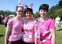 Northern Ireland- 27th May 2012 Mandatory Credit - Photo-Jonathan Porter/Presseye.  Cancer Research UK 5K Race For Life at the Stormont Estate in east Belfast.  Left to right. Siobhan Magill, Rachel Magill and Philomena McElroy from Newry.