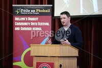 Press Eye - Belfast - Northern Ireland - 10th February 2019 - . John Finucane pictured at the event at St Marys University College Belfast entitled Pat Finucane 30th Anniversary, A Community Reflects. The event was organised by Feile an Phobail.. Photo by Kelvin Boyes / Press Eye