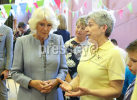 . Press Eye - Belfast - Northern Ireland - 21st May 2019 - . The Prince of Wales and  Duchess of Cornwall are pictured meeting people from local businesses and members of the public from Lisnaskea, Co Fermanagh during their 2 day visit to Northern Ireland. . Picture Matt Mackey / Press Eye.