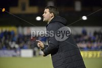 12th September 2017 . Danske Bank Irish premier league match between Crusaders and Linfield at Seaview..  Linfields manager David Healy.  Photo by Stephen Hamilton /Inpho