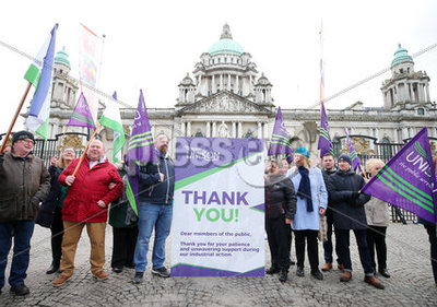 Unison Rally Belfast City Hall