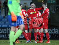 Danske Bank Premiership, Ballymena United vs Cliftonville, The Ballymena Showgrounds, Co. Antrim . 3/4/2018 . Cliftonville\'s Rory. Donnelly celebrates scoring. Mandatory Credit ©INPHO/Matt Mackey