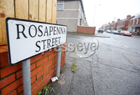 Press Eye - Belfast - Northern Ireland - 15th April 2018. General view of Rosapenna Street in north Belfast where a PSNI land drover was attack with a petrol bomb on Saturday night. . Picture by Jonathan Porter/PressEye