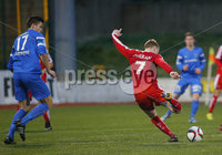 Picture - Kevin Scott / Presseye. Belfast , UK - NOVEMBER 21, Pictured is Cliftonvilles\' Chris Curran scores in action during the game at Solitude in Belfast, Northern Ireland on November 21 (Photo by Kevin Scott / Presseye).