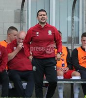 Danske Bank Premiership, Mourneview Park, Lurgan 4/8/2018. Glenavon FC vs  Linfield FC. Linfield manager David Healy . Mandatory Credit @INPHO/Brian Little.