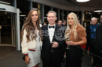 Press Eye - Belfast - Northern Ireland - 14th January 2019.. Sommer Leckey, Adrian Leckey and Heather Leckey pictured at the  Belfast Telegraph Sports Awards 2018 in the ICC Belfast.. Photo by Kelvin Boyes / Press Eye..