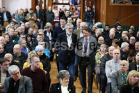 Press Eye - Belfast - Northern Ireland - 10th February 2019 - . Michael Finucane and Gerry Adams TD are pictured at the event at St Marys University College Belfast entitled Pat Finucane 30th Anniversary, A Community Reflects. The event was organised by Feile an Phobail.. Photo by Kelvin Boyes / Press Eye