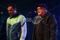 ©Lorcan Doherty Photography - 11th August 2017 . Stendhal Festival 2017. Rigsy and Stuart Baillie during the Set of Stevie.. Photo by Lorcan Doherty / Press Eye..