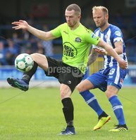 Danske Bank Premiership, Showgrounds, Coleraine 4/8/2018. Coleraine vs Warrenpoint. Warrenpoint\'s Ciaran O\'Connor and Coleraine\'s Gareth McConachie. Mandatory Credit ©INPHO/Lorcan Doherty