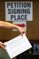Press Eye - Belfast - Northern Ireland - 8th August 2018. Three petition signing centre open in north Antrim regarding The Recall of MPs Act 2015 and DUP MP for the area Ian Paisley Jnr\'s recent suspension from the House of Commons over expenses and holidays to Sir Lanka. . A picture of the petition form at the Joey Dunlop Leisure centre in Ballymoney which is one of the centres..  . Picture by Jonathan Porter/PressEye