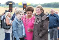 Press Eye - Belfast - Northern Ireland - 13th July 2017 . Downpatrick racecourse family fun race day.. Mary-Late Burns, Margo McNeil and Deirdre McGuigan . Picture by Matt Mackey / presseye.com.