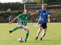 PressEye-Northern Ireland- 19th August  2019-Picture by Brian Little/PressEye. Northern Ireland U16  Jamie McDonnell   and Estonia U16 Roman Teljakov   during Monday evening\'s challenge match at Breda Park (Knockbreda FC).. Picture by Brian Little/PressEye .