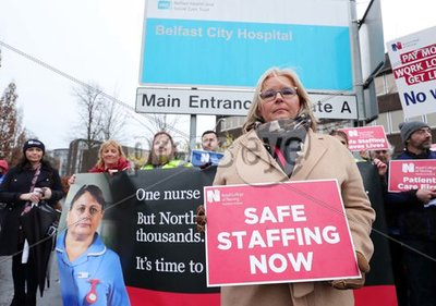 RCN Strike Belfast City Hospital