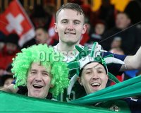 PressEye-Northern Ireland- 12th November  2017-Picture by Brian Little/ PressEye. Northern Ireland fans ahead of the match against  Switzerland    during Sunday night\'s FIFA  World Cup play-off  second leg match at St Jacob Park, Basel.. Picture by Brian Little/PressEye