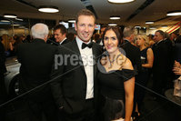 Press Eye - Belfast - Northern Ireland - 6th February 2017 -  . Belfast Telegraph Sports Awards 2016.. Andrew White and Ydele White pictured at the Belfast Telegraph Sports Awards 2016 in the Waterfront Hall.. Photo by Kelvin Boyes / Press Eye..