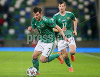 Press Eye - Belfast - Northern Ireland - 12th November 2020. UEFA Nations League 2021 - Northern Ireland Vs Romina at The National Stadium at Windsor Park, Belfast.. Northern Irelands Matthew Kennedy. Picture by Jonathan Porter/PressEye