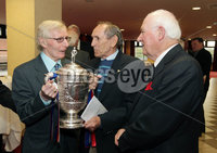 Press Eye - Belfast - Northern Ireland - Saturday 28th April 2012 -  Picture by Kelvin Boyes / Press Eye.. Linfield veterans from 1961-62 at the Ramada Hotel Belfast.. Pictured left to right are: Isaac Andrews, Bobby Braithwaite and Hubert Barr..