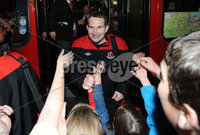 ©Press Eye Ltd Northern Ireland - 12th May 2012. Crusaders Sean ONeill   is given a heros welcome at Seaview after the team won the Setanta cup . Mandatory Credit - Picture by Stephen Hamilton /Presseye.com. .
