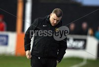 Danske Bank Premiership Play Off Loughshore Hotel Arena, Carrickfergus. Wednesday 9 May 2018. Carrick Rangers FC vs Newry City FC. Disappointed David McAlinden of Carrick. Mandatory Credit ©INPHO/Freddie Parkinson