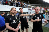 Press Eye - Belfast -  Northern Ireland - 28th May 2018 - Photo by William Cherry/Presseye. Northern Ireland manager Michael O\'Neill with coach Austin MacPhee during Monday evenings training session at the Estadio Rommel Fernandez, Panama City.