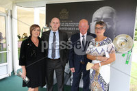 Press Eye - Belfast - Northern Ireland - 8th September 2018 - . Sarah, Adam, Bill and Linda Ferris pictured at the Archbishop's Palace in Armagh along with friends and family of Dr Rory Best OBE to witness the sportsman's conferment with the Freedom of the Borough of Armagh City, Banbridge and Craigavon..  . Photo by Kelvin Boyes / Press Eye..