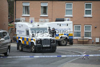 Press Eye - Belfast - Northern Ireland - 11th July  2018 . General view of the PSNI officers at the scene in the Clandeboye area of the Short Strand after a device exploded in the street close to Clean Place.. Photo by Kelvin Boyes / Press Eye..