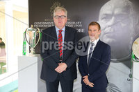 Press Eye - Belfast - Northern Ireland - 8th September 2018 - . Raymond Donnelly and Paul Marshall pictured at the Archbishop's Palace in Armagh along with friends and family of Dr Rory Best OBE to witness the sportsman's conferment with the Freedom of the Borough of Armagh City, Banbridge and Craigavon..  . Photo by Kelvin Boyes / Press Eye..