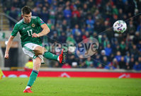 Press Eye - Belfast - Northern Ireland - 16th November 2019. UEFA EURO 2020 Qualifier Group C.  Northern Ireland Vs Netherlands at the National Stadium at Windsor Park, Belfast. . Northern Irelands Paddy McNair. . Picture by Jonathan Porter/PressEye