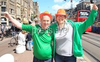 ©Press Eye Ltd Northern Ireland - 1st June 2012. Mandatory Credit - Picture by Darren Kidd/Presseye.com .  .  Northern Ireland fans in Amsterdam ahead of their international friendly against the Netherlands on Saturday evening.. Northern Ireland fans Darren Ferguson and Sandra Wallace of Antrim NISC