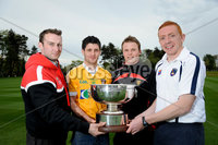 Press Eye - Belfast - Northern Ireland - 9th May 2012 . Ulster Camogie and GAA Hurling All Ireland Senior Championship. Picture by Elaine Hill / Press Eye. Patrick McCloskey Derry, Liam Hinphey Derry, Michael Turley Down and Ryan Gaffney Armagh