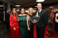 Press Eye - Belfast - Northern Ireland - 14th January 2019.. Katie McGowa, Paula Quinn, Helen Galbraith and Dr Stephen Smith pictured at the  Belfast Telegraph Sports Awards 2018 in the ICC Belfast.. Photo by Kelvin Boyes / Press Eye..
