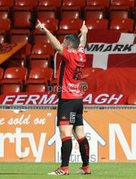Danske Bank Premiership 5/10/2018. Crusaders vs Cliftonville. Crusader\'s Rory Patterson celebrates scoring . Mandatory Credit INPHO/Declan Roughan