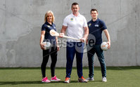 REPRO FREE***PRESS RELEASE NO REPRODUCTION FEE***. Topaz Cash for Clubs Launch, Dublin 17/5/2017. Pictured at the launch of Cash for Clubs are Topaz ambassadors (L-) Brid Stack, Alan Quinlan and Kevin McManamon.. Topaz is encouraging people from across Ireland to go the extra mile for there local community to be in with a chance to win up to €10,000 for a club of their choice. A total of €200,000 in cash prizes will be up for grabs over the course of the next 12 weeks.. For more information and how to enter see www.playorpark.ie/cashforclubs. Mandator Credit ©INPHO/James Crombie