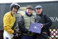 Presseye.com ©Stephen Hamilton  - 7th  May 2012. Ruby Walsh pictured with his father Ted Walsh and sponsor Ronan Graham after he won theSean Graham Bookmakers Beginners steeple chase at Down Royal in the May Day Daily Mirror races..   Mandatory Credit - Picture by Stephen Hamilton/Presseye.