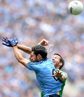 GAA Football All Ireland Senior Championship Quarter-Final, Croke Park, Dublin 2/8/2015. Dublin vs Fermanagh. Dublin's Cian O'Sullivan and Niall Cassidy of Fermanagh. Mandatory Credit ©INPHO/James Crombie.