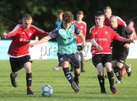 ©/Presseye.com - 17th July 2017.  Press Eye Ltd - Northern Ireland - Hughes Insurance Foyle Cup 2017- U-17 - Derry City V Willowbank FC (Belfast). Derry\'s Jack Parke and Williowbank\'s Tiarnan Gracey..  . Mandatory Credit Photo Lorcan Doherty / Presseye.com