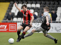 07/12/2019. Danske Bank Premiership, Seaview, Belfast Co. Antrim . Crusaders v Institute. Crusaders  Philip Lowry in action with Institutes Brendan McLaughlin . Mandatory Credit INPHO/Stephen Hamilton.