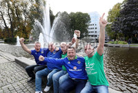 Press Eye - Belfast -  Northern Ireland - 07th October 2017 - Photo by William Cherry/Presseye. Northern Ireland fans Billy Hamilton, Billy Latta, Stan Frazer, Peter McMeekin and Floyd McCarter pictured in Oslo ahead of Sundays World Cup Qualifier against Norway at the Ullevaal Stadion, Oslo.   Photo by William Cherry/Presseye